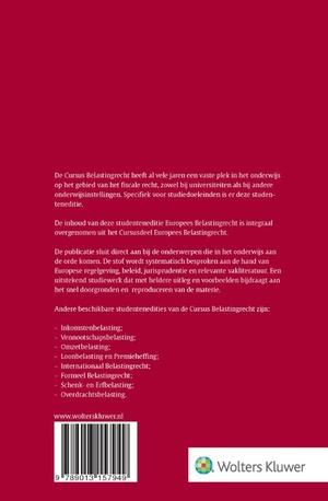 Studenteneditie Cursus Belastingrecht Europees belastingrecht 2020-2021