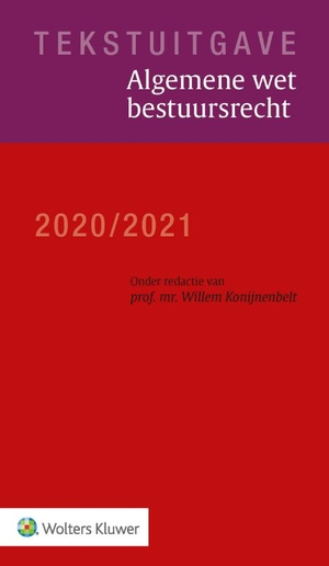 Tekstuitgave Algemene wet bestuursrecht 2020/2021