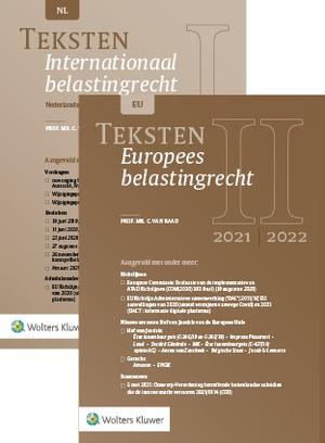 Teksten Internationaal & Europees belastingrecht 2021/2022