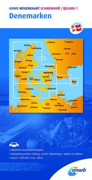 ANWB Wegenkaart 1. Denemarken