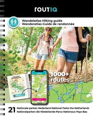 Routiq Wandelatlas Nederland - Wandelroutes in 21 nationale parken