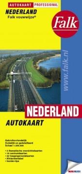 Nederland Autokaart Falk-vouwwijze