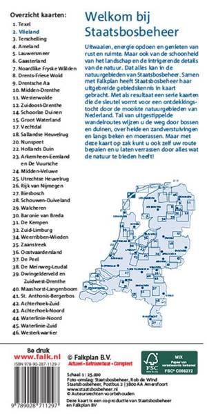 Falk Staatsbosbeheer wandelkaart 02 Vlieland