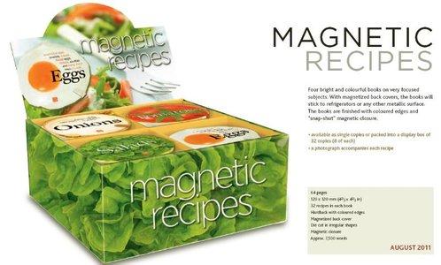 Display kookboekje magneetsluiting (4 x8 stuks)