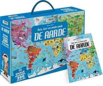 De Aarde - puzzel 200 stukjes en boek
