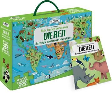 Dieren - puzzel 200 stukjes en boek