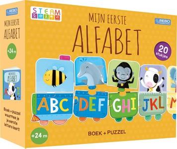 Puzzeltrein 20 stukjes en boek - Mijn eerste alfabet