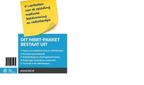 Pakket 5 leerboeken voor de opleiding Medische beeldvorming en radiotherapie