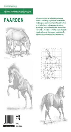 Tekenen met behulp van een raster - Paarden