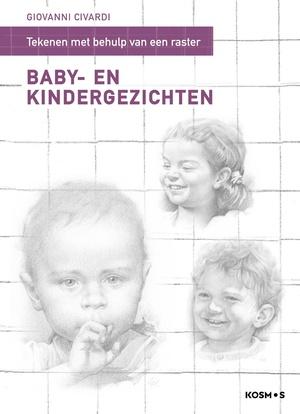 Tekenen met behulp van een raster-Baby- en kindergezichten.