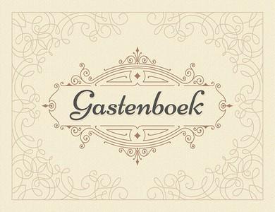 Gastenboek (beige)
