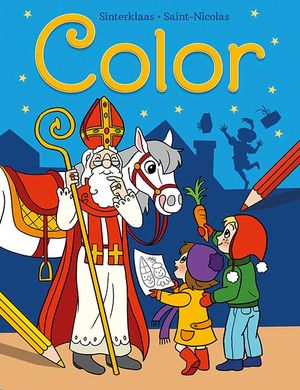 Sinterklaas Color kleurblok / Saint-Nicolas Color bloc de coloriage