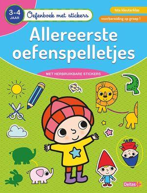 Oefenboek met stickers - Allereerste oefenspelletjes (3-4 j.)