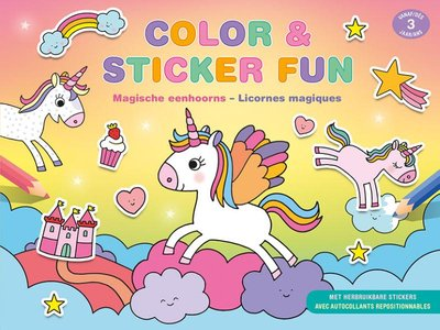 Color & Sticker Fun - Magische eenhoorns