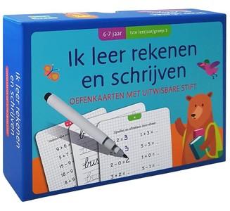 Oefenkaarten met uitwisbare stift - Ik leer rekenen en schrijven (6-7 j.) 1ste leerjaar