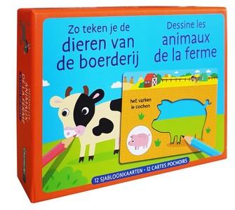 Zo teken je de dieren van de boerderij / Dessine les animaux de la ferme