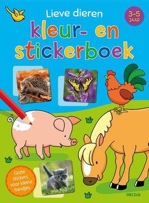Lieve dieren kleur- en stickerboek (3-5 j.)