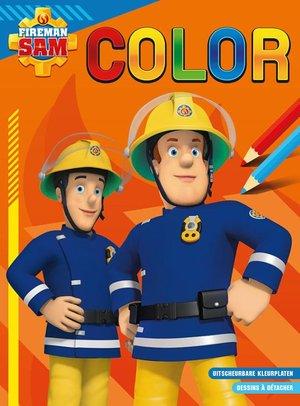 Brandweerman Sam Color kleurblok / Sam le pompier Color bloc de coloriage