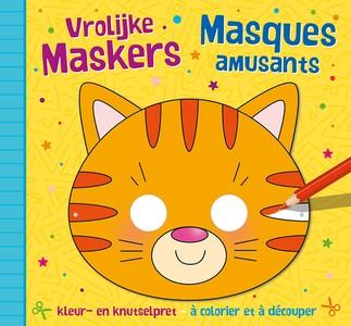 Vrolijke maskers - kleur- en knutselpret (4+) / Masques amusants – à découper et à colorier (4+)