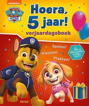 Paw Patrol Hoera, 5 jaar! Verjaardagsboek