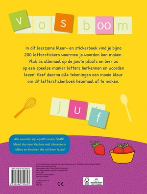 Reuzeleuk kleur- en stickerboek - Allereerste woorden vormen (5-6 j.)