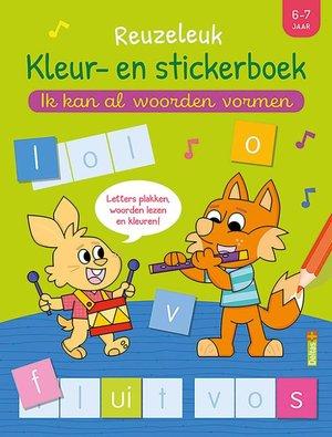 Reuzeleuk kleur- en stickerboek - Ik kan al woorden vormen (6-7 j.)