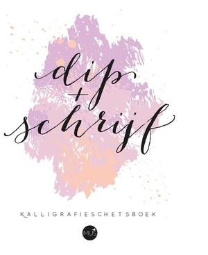 Dip & schrijf kalligrafieschetsboek