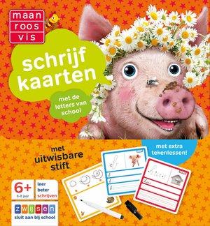 Maan Roos Vis Schrijfkaarten 6-8 jaar