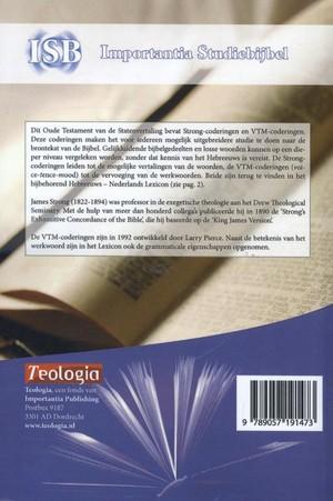 Het Oude Testament - Statenvertaling met Strong-coderingen importantia studiebijbel