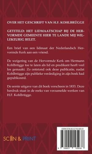 Over het geschrift van H.F. Kohlbrügge