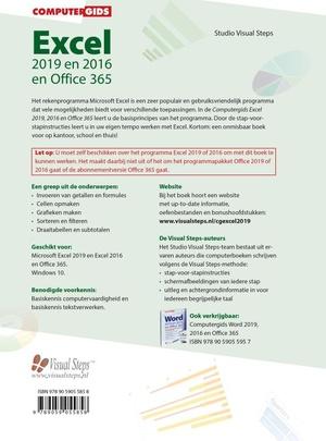 Computergids Excel 2019, 2016 en Office 365