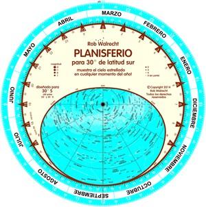 Planisfeer voor 30°ZB ESP