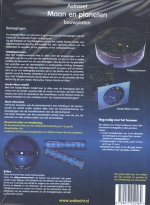 Astroset maan en planeten bouwplaten