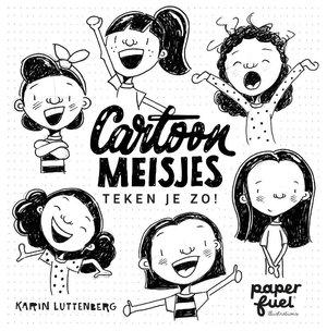 Cartoonmeisjes teken je zo!