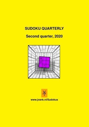 Sudoku quarterly 2020, quarter 2