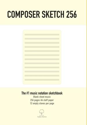 Composer Sketch 256 - A4 Muziekpapier met lege notenbalken