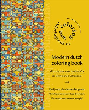 Modern dutch coloring book