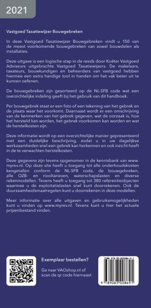 Vastgoed Taxatiewijzer Bouwgebreken 2021