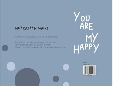Babyboek oud blauw