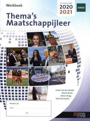 Thema's Maatschappijleer voor HAVO | werkboek | 2020-2021