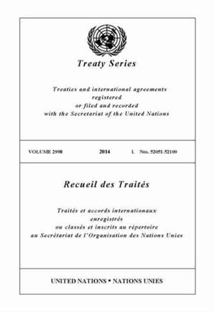 Treaty Series 2959 (english/french Edition)
