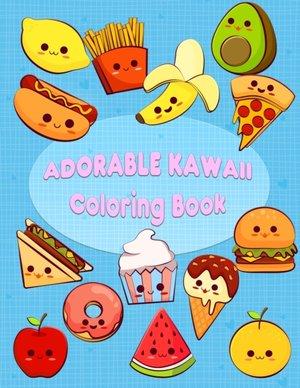 Adorable Kawaii Coloring Book