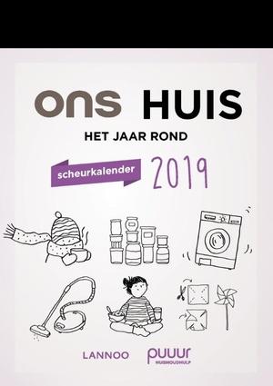 Ons huis het jaar rond scheurkalender 2019
