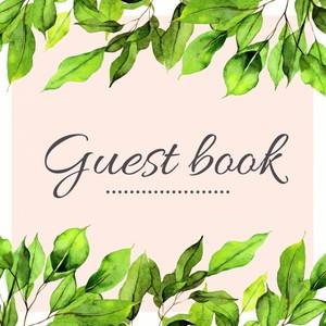 Green Leaves Floral Tropisch Gastenboek voor Huwelijk | Bruiloft | Verjaardag | Babyshower | Babyborrel | Verjaardag | Pensioen | Feest en meer