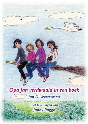 Opa Jan verdwaald in een boek