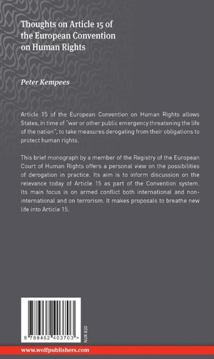 Thoughts on Article 15 of the European Convention on Human Rights