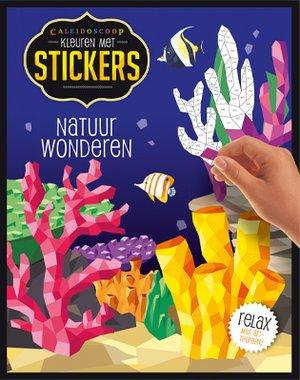 Kleuren met stickers - Natuurwonderen