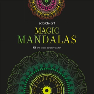 Scratch art Magic Mandalas