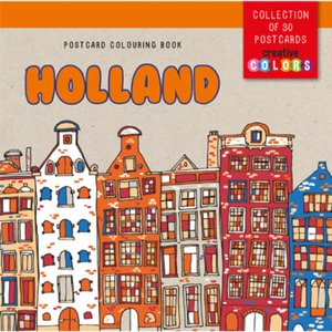 Postcard colouring book Holland