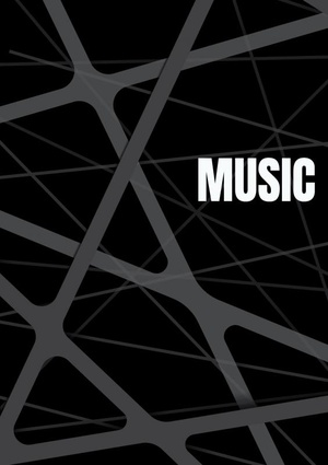 Notenschrift- Notenbalken- Music (A5) Allets comfort